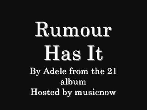 Adele: Rumour Has It (download Link & Lyrics)