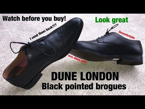 Unboxing Dune London black brogues!