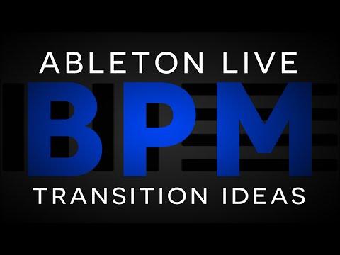 Ableton Tutorial: Live Performance BPM Change Idea #1