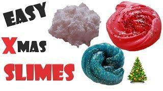 DIY VÁNOČNÍ SLIZY / DIY 3 easy Christmas slimes [Marky]