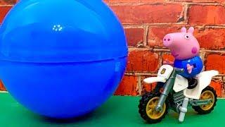 BIG Blue Surprise Ball ☺️ बड़ी नीली आश्चर्य की गेंद  Peppa, Masha