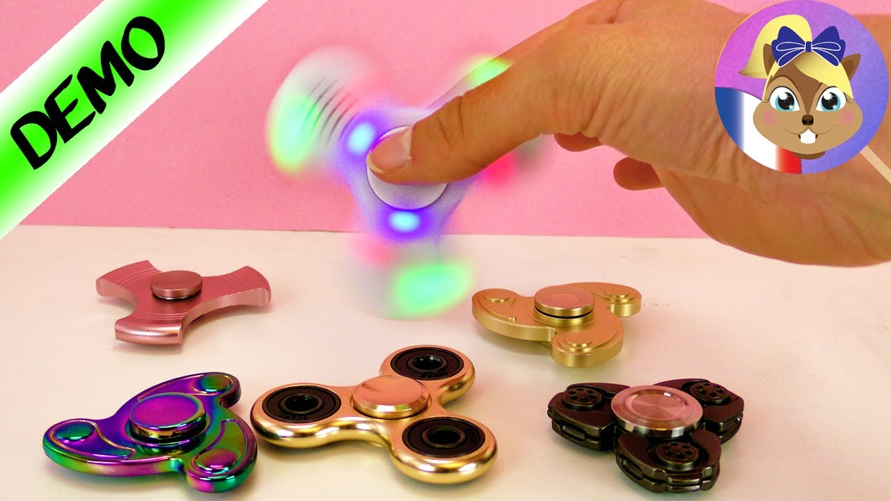 6 fidget spinners super cool test de plusieurs spinner. Black Bedroom Furniture Sets. Home Design Ideas