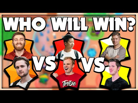 Brawl Stars: 2v2v2 ONLY Legendaries | Lex, Kairos vs Orange Juice, Chief Pat vs Rey, BenTimm1