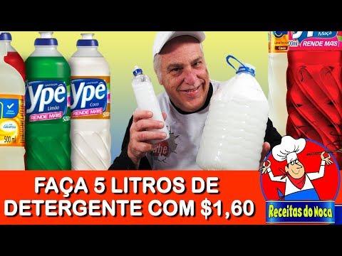 DETERGENTE CASEIRO 5 LITROS POR R$1,60 - FÁCIL DE FAZER