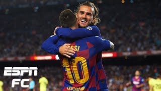After a 2-1 win vs. inter milan in uefa champions league, adrian healey talks with frank leboeuf, alejandro moreno and shaka hislop about lionel messi an...