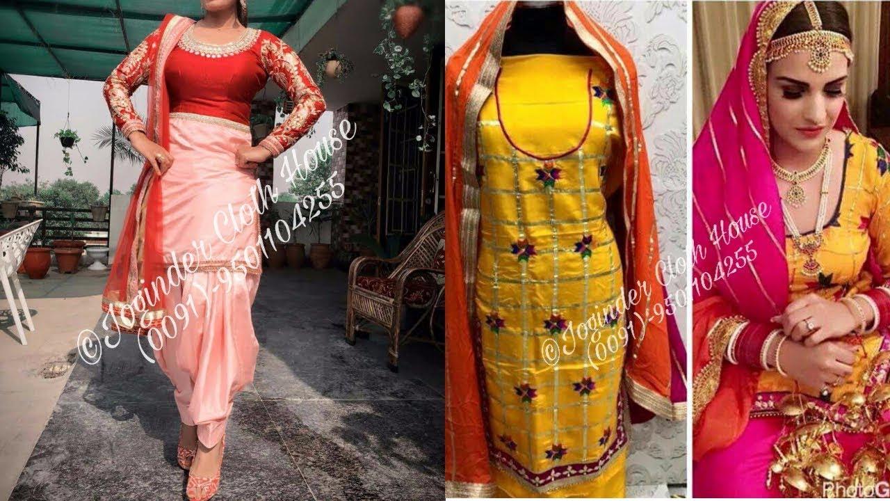 Designer Punjabi SuitsOn Silk Material