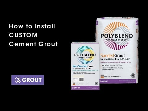 How to Install CUSTOM Cement Grout