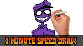 Purple Guy- FNAF- Speed Draw Video Preview