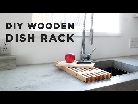 DIY Wooden Dish Rack