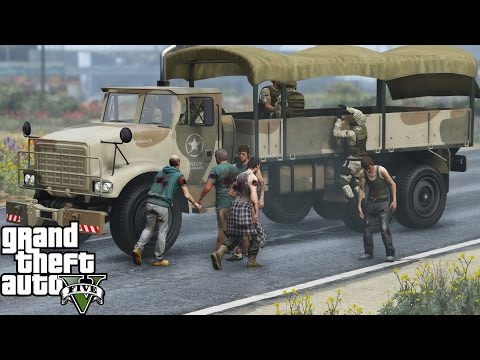 GTA 5 ZOMBIES APOCALYPSE Mod | MILITARY Vs ZOMBIE OUTBREAK | NO MAN GETS LEFT BEHIND | WE FAILED