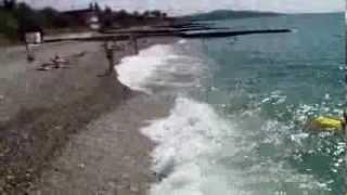 Абхазия. Пляж, море и улицы Нового Афона(Жемчужина Абхазии Новый Афон показывает нам тихие спокойные пляжи, чистое лазурное море, живописные аллеи..., 2013-10-27T17:04:26.000Z)