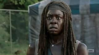 The Walking Dead - 7x12 Michonne piensa que Rick está muerto