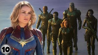 Who Are Captain Marvel's Teammates?