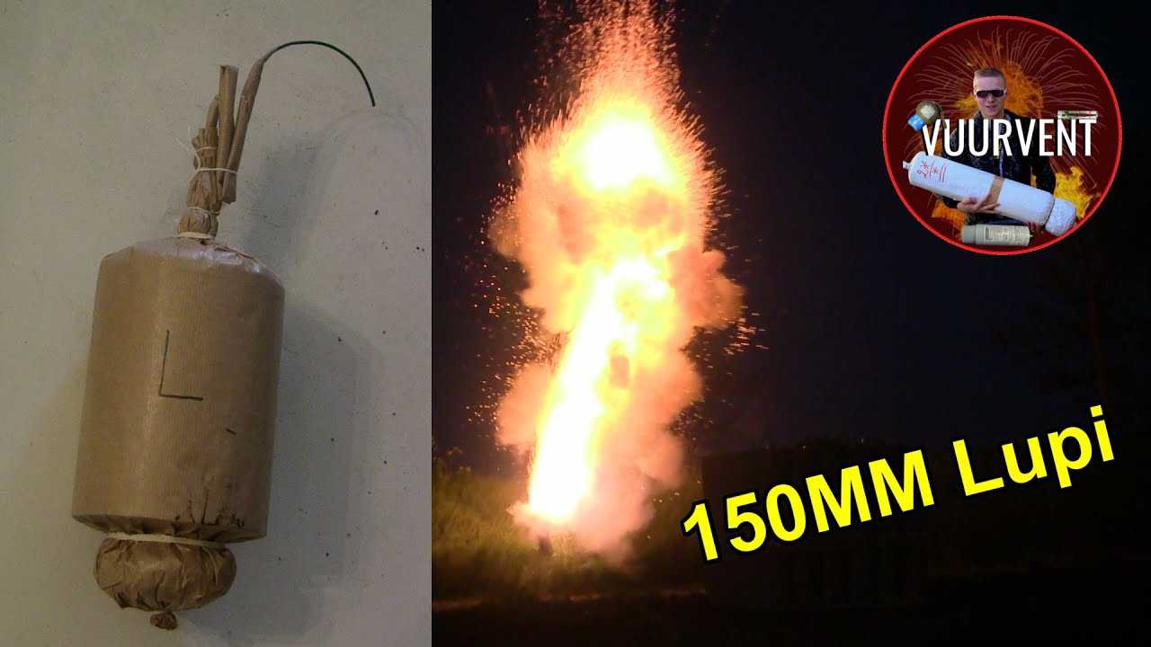150mm Lupi - HUMMER SHELL - VUURWERK - FIREWORKS