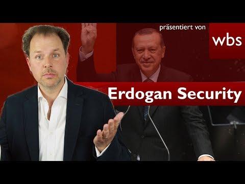 Erdogan-Security - Was dürfen ausländische Sicherheitskräfte? | Rechtsanwalt Christian Solmecke
