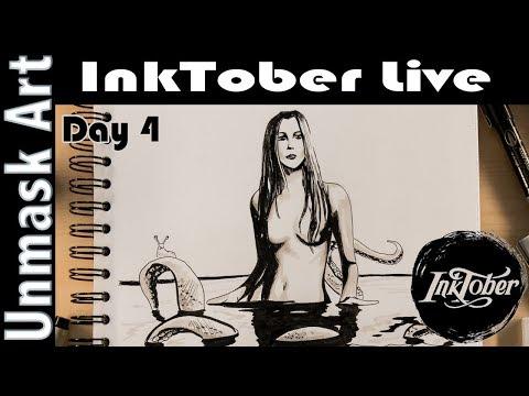 InkTober 2017 Day 4: Underwater
