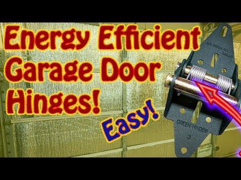 DIY How to Install Green Energy Efficient Garage Door Hinges Green Hinge System Weather Seal