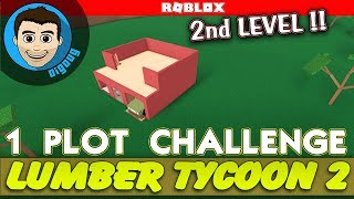 Roblox Lumber Tycoon 2 One Plot Challenge! Fun with design in the 1 plot challenge!