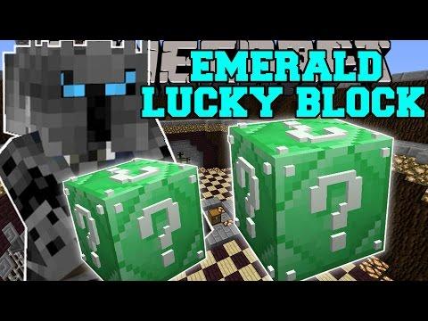 Minecraft: EMERALD LUCKY BLOCK (BLOCK OF...