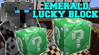 Minecraft: EMERALD LUCKY BLOCK (BLOCK OF PURE EPICNESS!) Mod Showcase