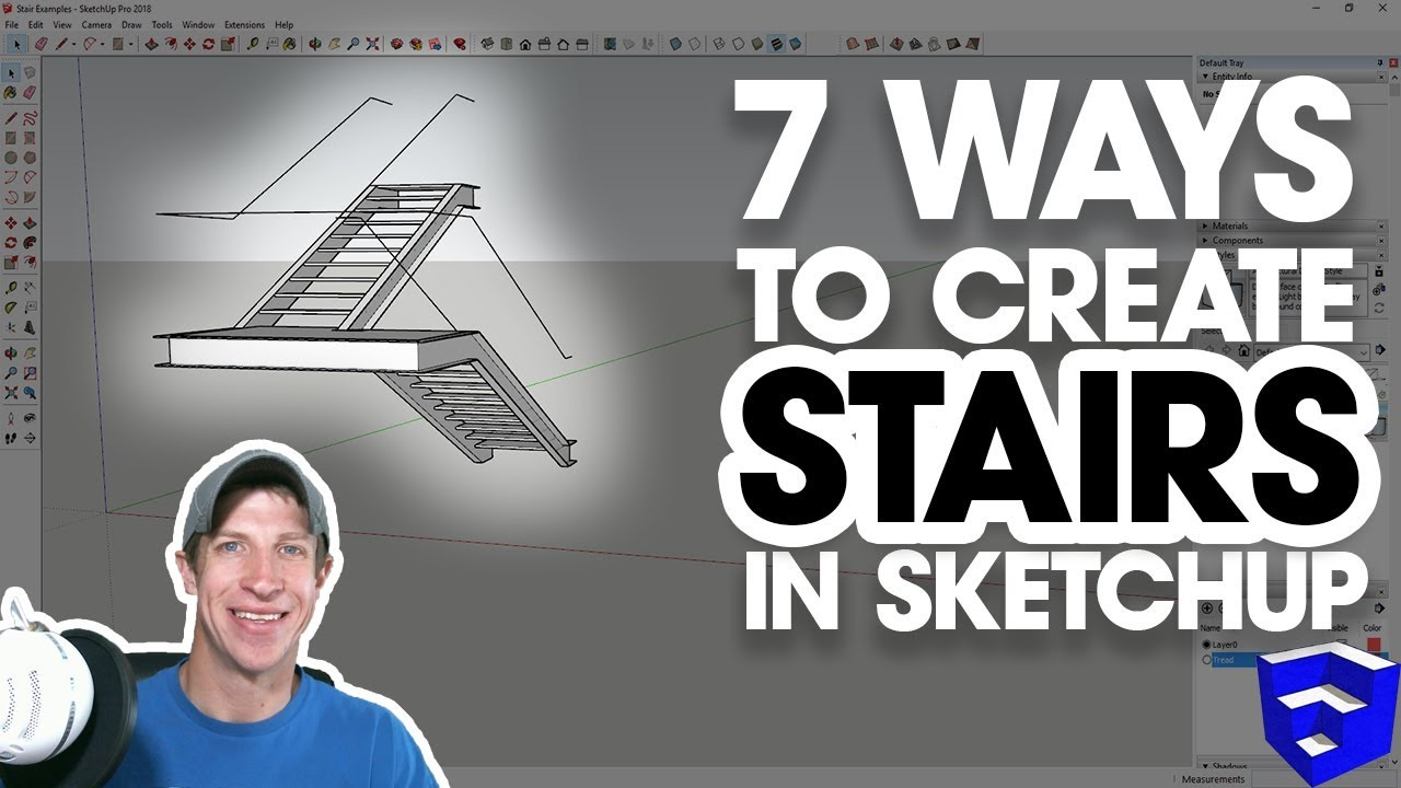 7 Ways to CREATE STAIRS IN SKETCHUP! - The SketchUp Essentials