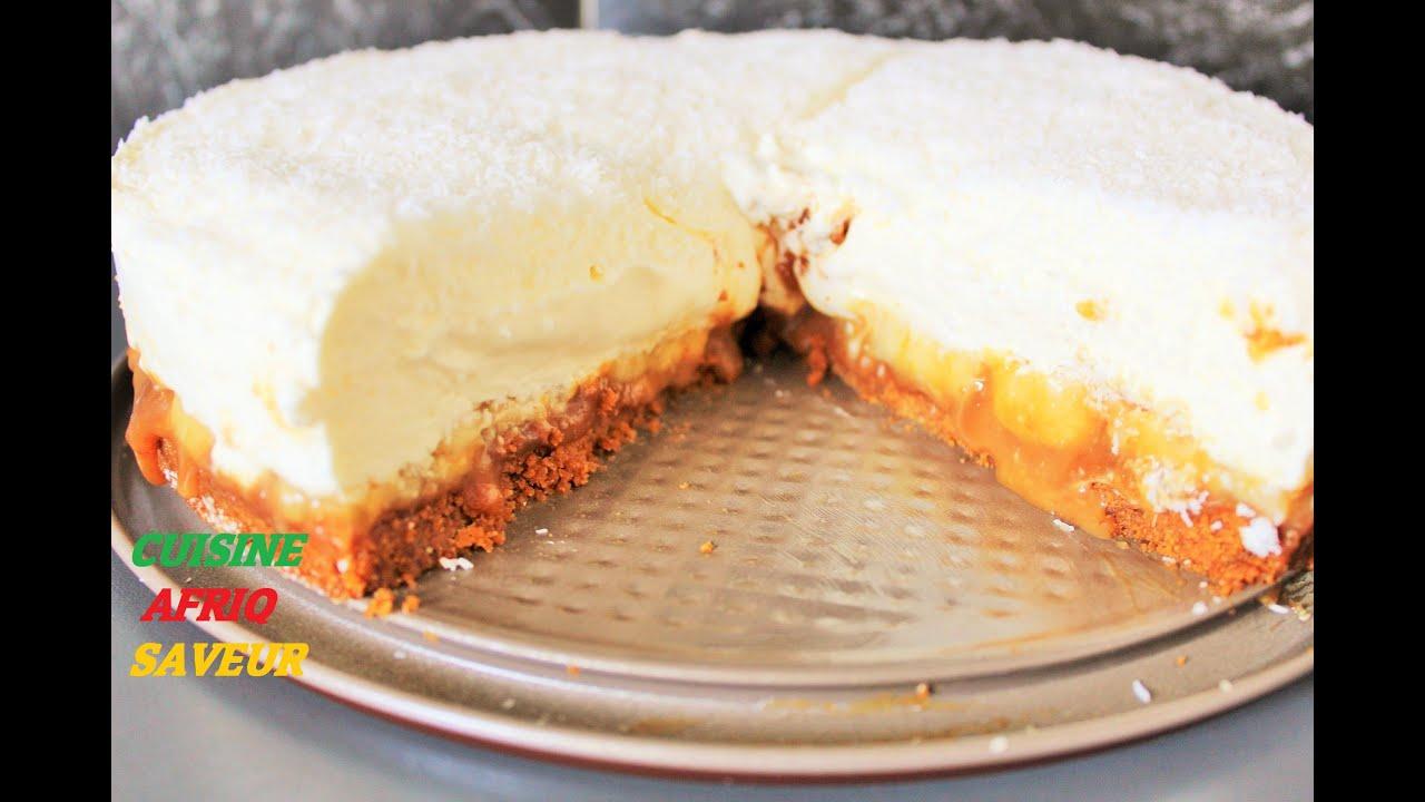 cheesecake caramel coco banane sans cuisson youtube. Black Bedroom Furniture Sets. Home Design Ideas