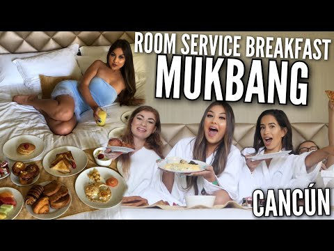 BREAKFAST IN BED MUKBANG ♡ Spilling TEA On The Beauty Industry, LA, Dating & More