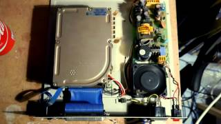 the sound of an old hard drive of 30 mb