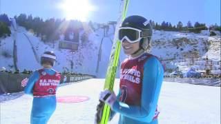 Jessica Jerome - Jump 2 - 2014 Olympic Team Trials for Ski Jumping - U.S. Ski Team