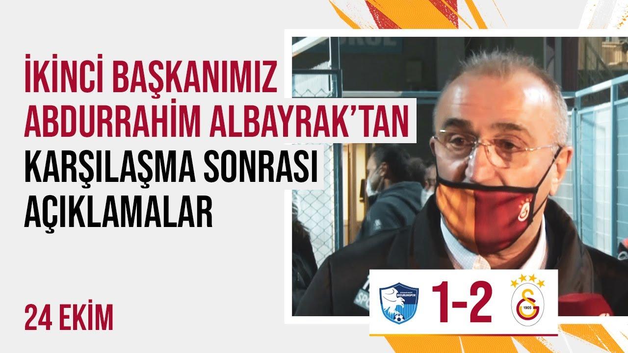 📺 İkinci başkanımız Abdurrahim Albayrak'tan karşılaşma sonrasında açıklamalar. #ERZvGS
