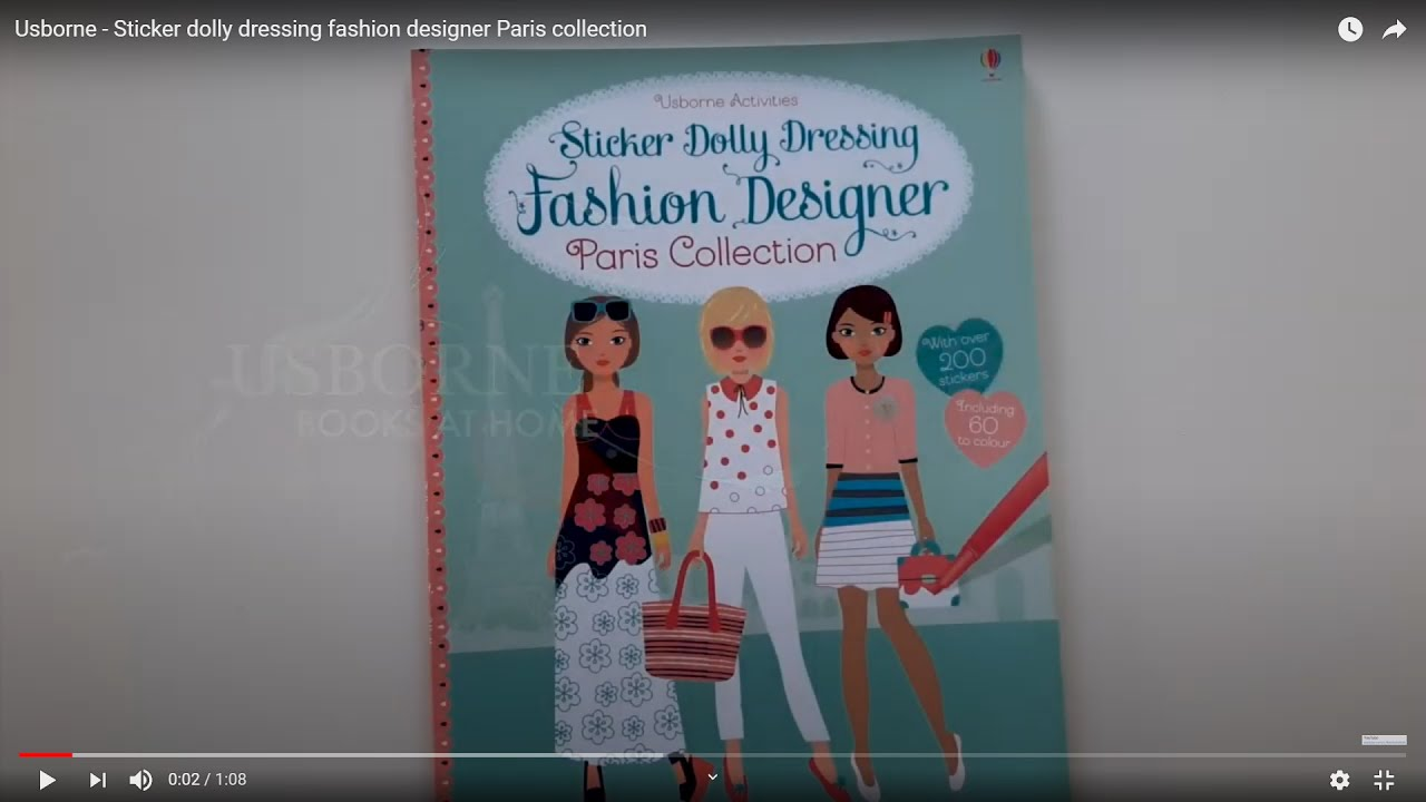 Usborne Sticker Dolly Dressing Fashion Designer Paris Collection Youtube