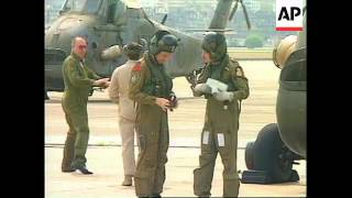 HONG KONG: RAF SQUADRON STAGE FINAL FLIGHT OF DUTY