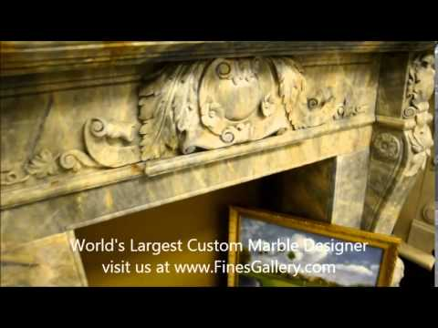Fine's Gallery - Beautiful Ornate Marble Fireplace - MFP-687
