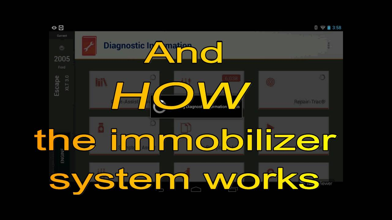 Resolve an Immobilizer Issue - embedded scan tool information