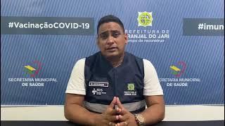 Secretário de Saúde Convoca População acima de 50 anos para vacina contra a COVID-19.