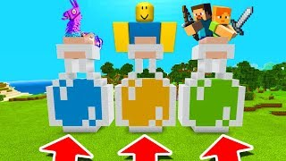 Minecraft PE : DO NOT CHOOSE THE WRONG POTION! (Fortnite, Roblox & Minecraft)