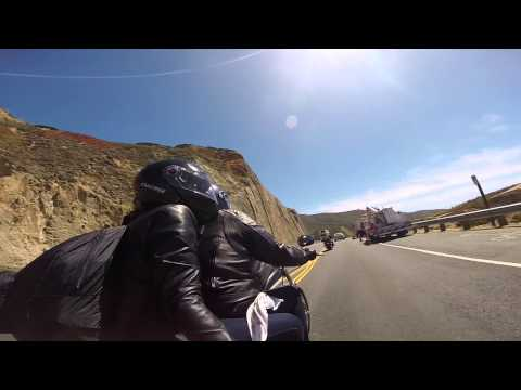 Highway 1 California on a V Rod Muscle and a Sporster 1200