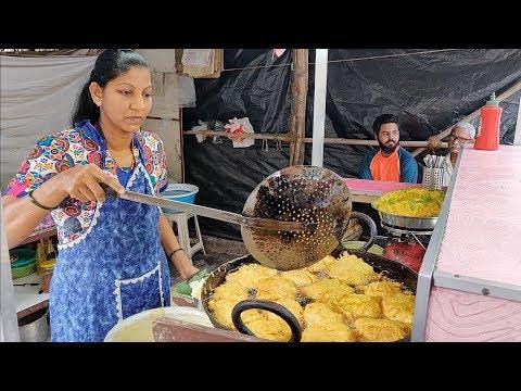 India's Fastest Lady Vendor   Ragda Pattice Pav for Rs 17   Indian Street Food