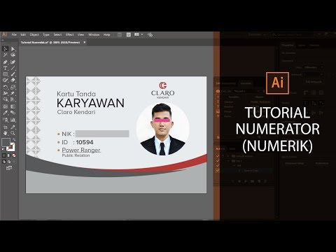 Cara Numerik | Adobe Illustrator | Variabel | Tutorial | Mudah | Cepat | Design thumbnail