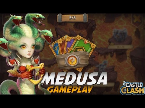 Castle Clash Medusa Gameplay!