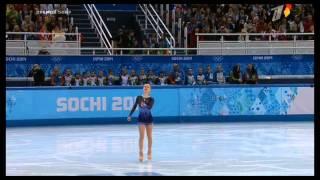 Repeat youtube video Юлия Липницкая упала в короткой программе / Lipnitskaya's Falls In Short Program, Sochi 2014