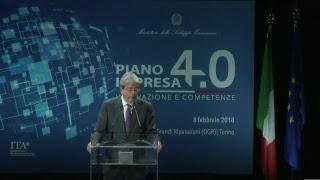 Intervento di Gentiloni alla presentazione dei risultati 2017 e le azioni 2018 del Piano Impresa 4.0