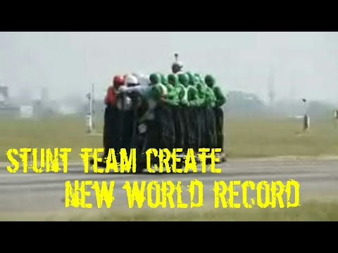 Indian army stunt team breaks it's own record