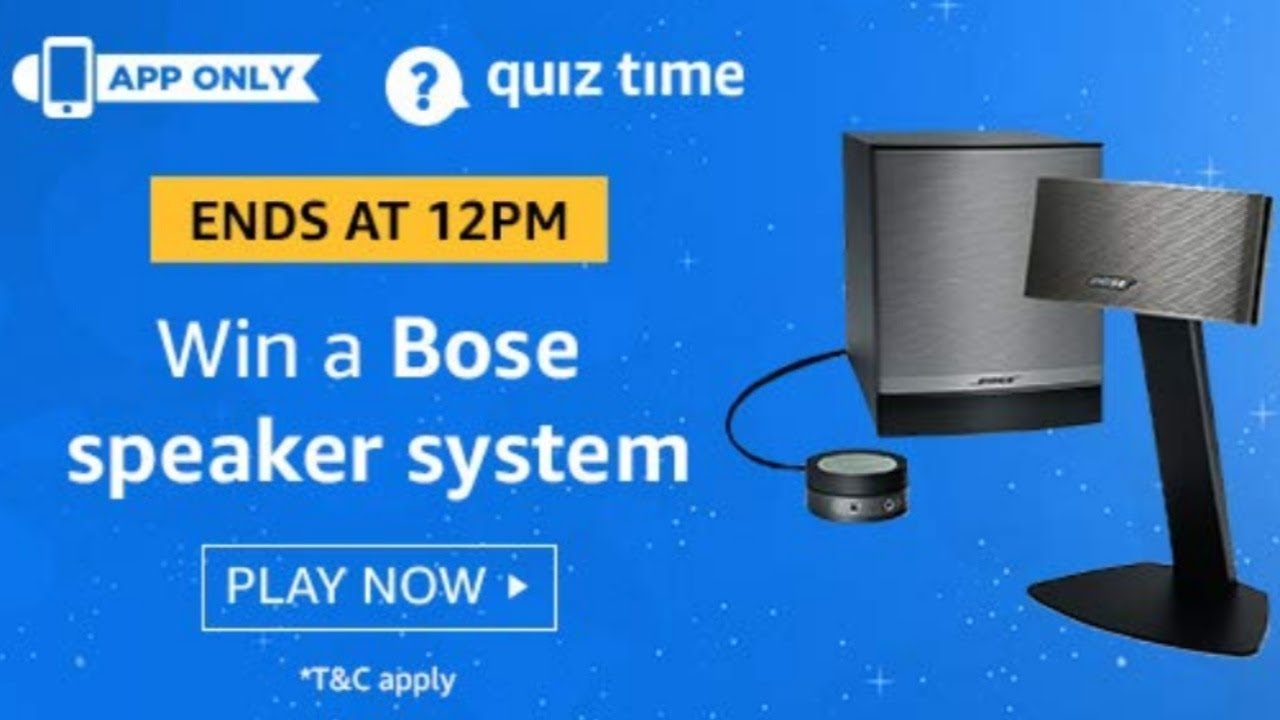 Today Amazon quiz all answers 30/7/2019 play and win prize