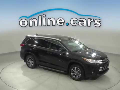 A16769DT Used 2018 Toyota Highlander Black SUV  Test Drive, Review, For Sale