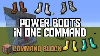 Minecraft: Power Boots in One Command