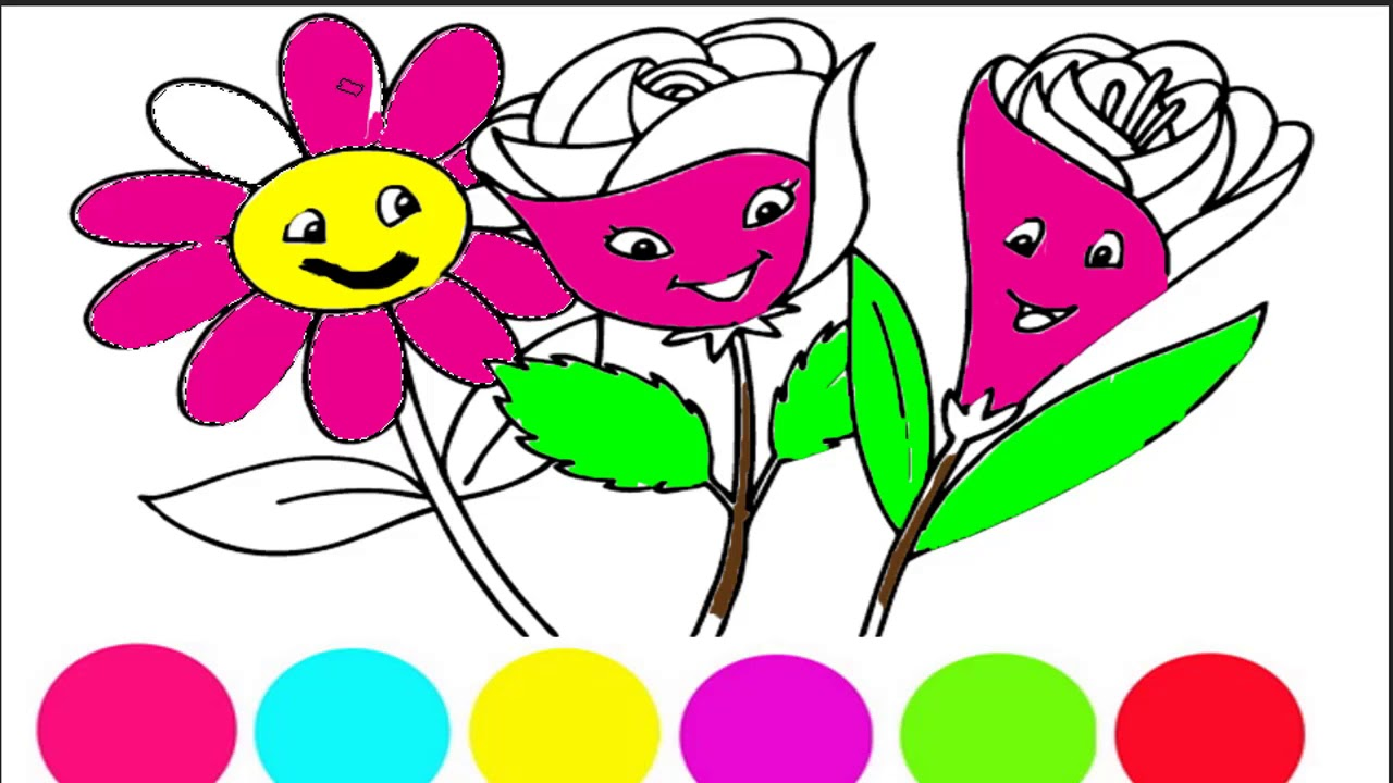 Flowers Coloring Pages - How to Coloring Flowers - Coloring Pages ...