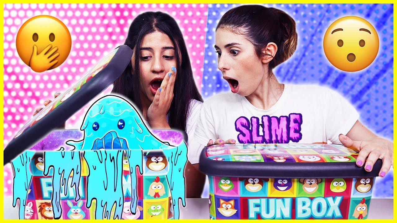 Kutudan Ne Çıkacak Slime Challenge Dev Mega Çöplük Slaym Eğlenceli Çocuk Videosu Dila Kent