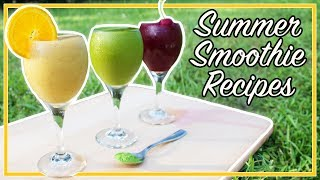 🍊 WEIGHT LOSS SMOOTHIE RECIPES | 3 Healthy Summer Smoothie Recipes! 🍒