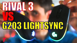 Logitech G203 Lightsync vs SteelSeries Rival 3 - The Budget Gaming Mouse YOU Should Buy (Comparison)